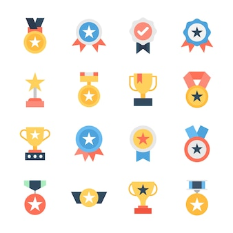 Pacchetto icone premio e trofei