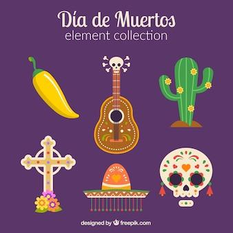 Pacchetto incantevole di elementi messicani