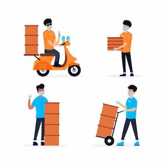 Pacchetto lavoratore consegna a domicilio