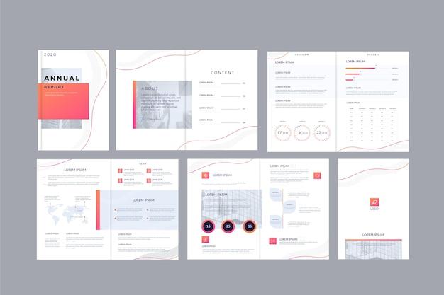 Pacchetto layout modello brochure