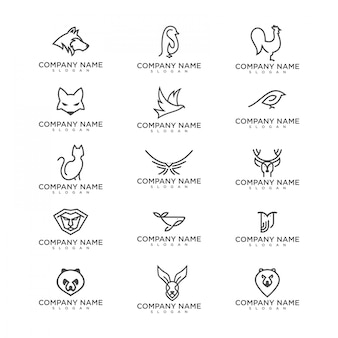Pacchetto logo animale