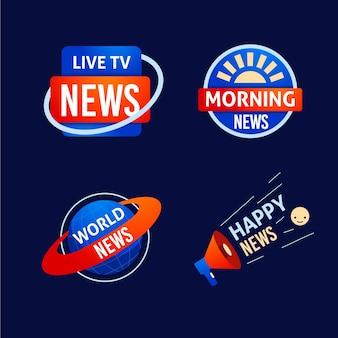Pacchetto logo design di notizie