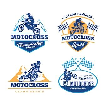 Pacchetto logo motocross
