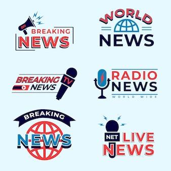 Pacchetto logo notizie