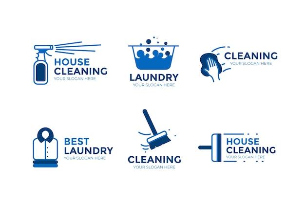 Pacchetto logo pulizia