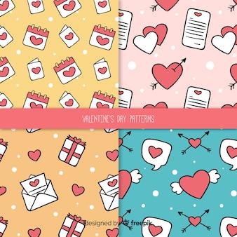 Pacchetto modello doodle di san valentino