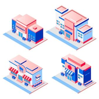 Pacchetto negozio isometrico