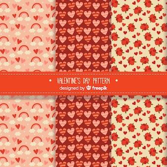 Pacchetto pattern di san valentino