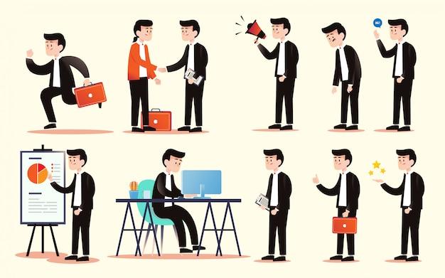 Pacchetto personaggi uomo d'affari