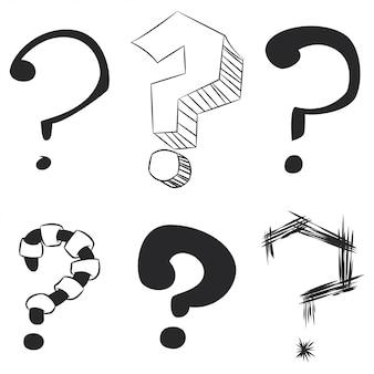 Pacchetto schizzo punto interrogativo