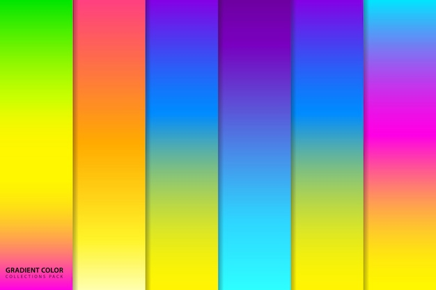 Pacchetto sfondo sfumato colorato