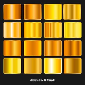 Pacchetto sfumato dorato lucido
