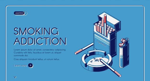 Pacchetto sigarette pagina di destinazione attività fumatori