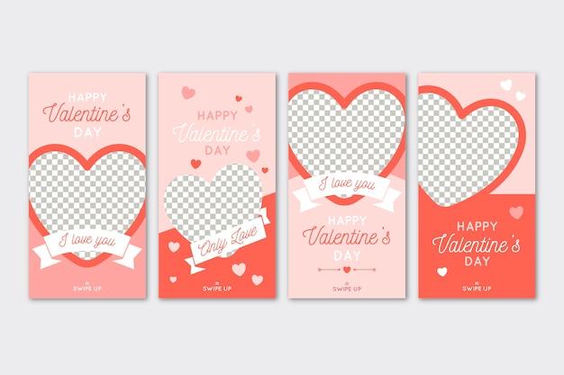 Pacchetto storie di vendita di san valentino