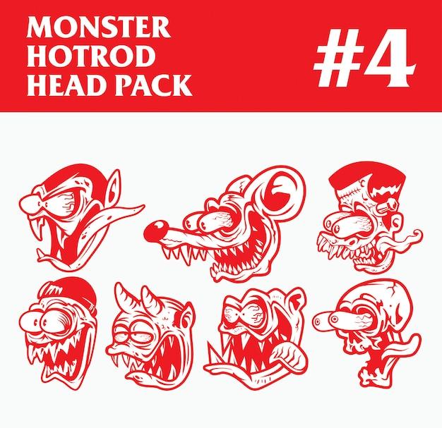 Pacchetto testa del mostro di hotrod