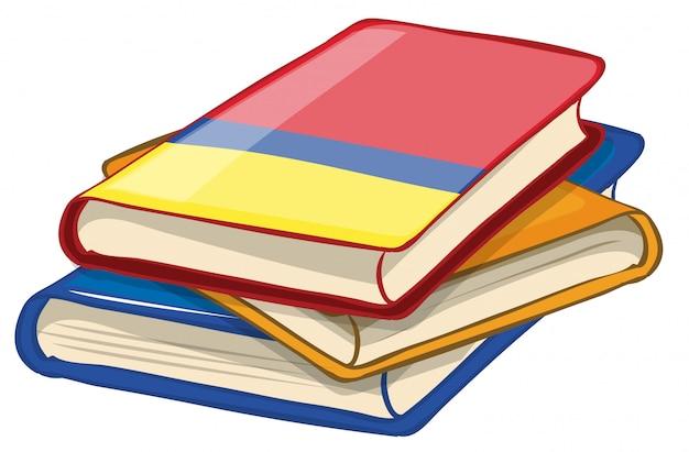 Pacco di libri isolato