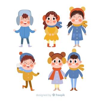 Pack di bambini invernali colorati