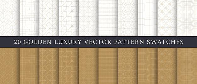 Pack di eleganti motivi geometrici di lusso