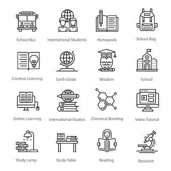 Pack di icone di educazione