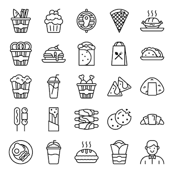 Pack di icone di fast food