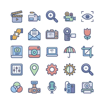 Pack di icone di fotografia digitale