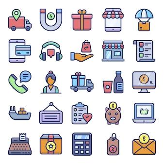 Pack di icone e-commerce