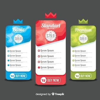 Pack di listino prezzi crown