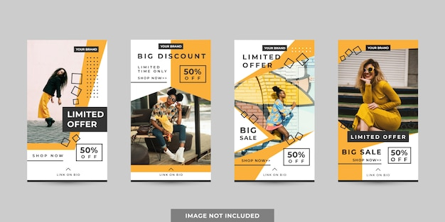 Pack di modelli di banner per storie sui social media