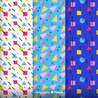 Pack di pattern colorati di memphis