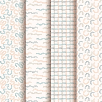 Pack di pattern design disegnato a mano