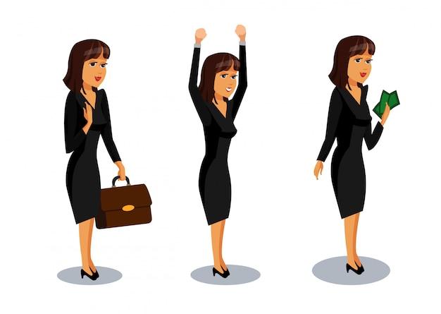 Pack di personaggi dei cartoni animati femminile di successo