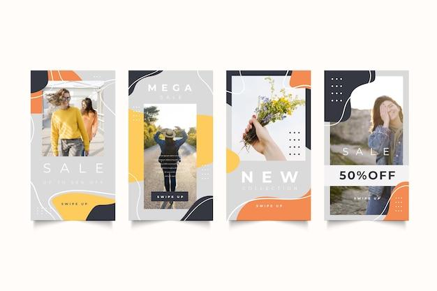 Pack di storie organiche di vendita su instagram