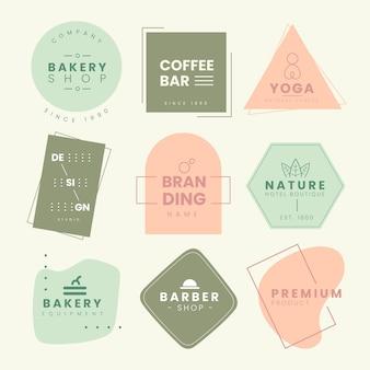 Pack logo minimal con colori pastello