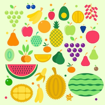 Pack of fruit icon