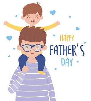 Padre con figlio il giorno del padre