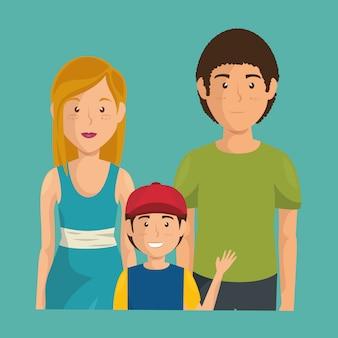 Padre e madre con figlio