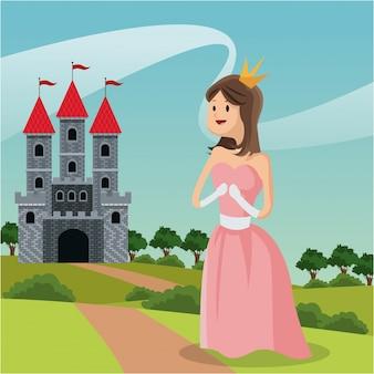 Paesaggio del castello del percorso della principessa