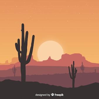 Paesaggio del deserto sullo sfondo