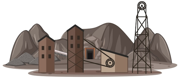 Paesaggio della miniera di carbone