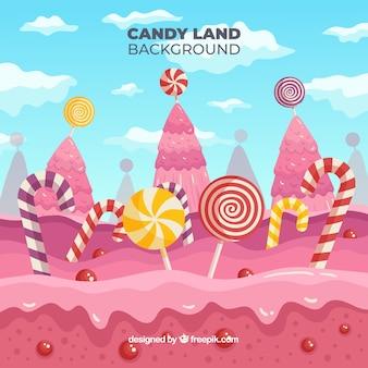 Paesaggio di caramelle carino