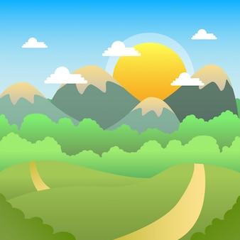 Paesaggio di giorno pieno di sole