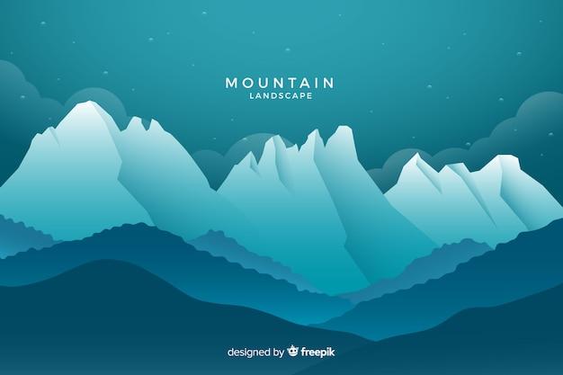 Paesaggio di montagne ombreggiate blu