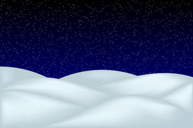 Paesaggio di neve che cade isolato