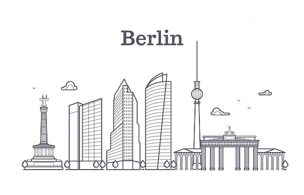 Paesaggio di vettore di linea berlino germania