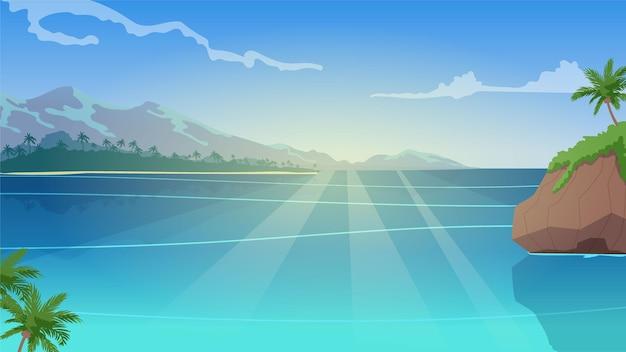 Paesaggio estivo - sfondo per lo zoom