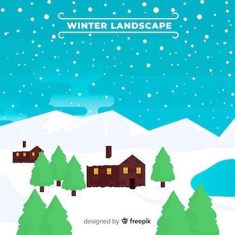 Paesaggio geometrico invernale