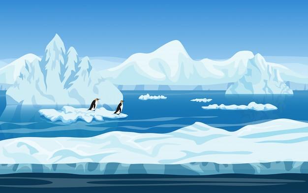Paesaggio invernale di ghiaccio artico