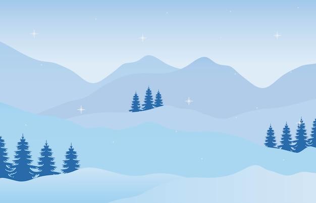 Paesaggio invernale di natale di vacanza