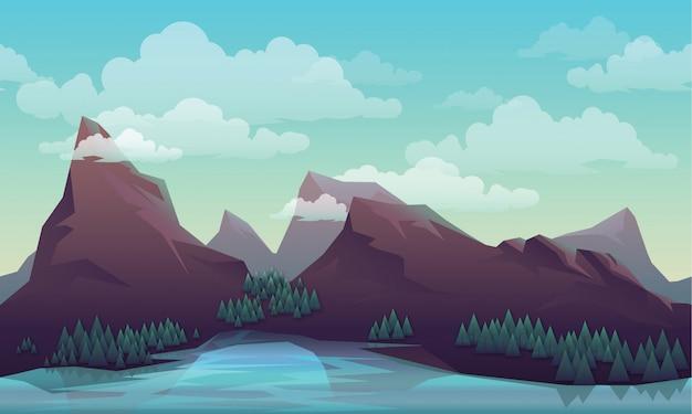 Paesaggio / montagne / vettore