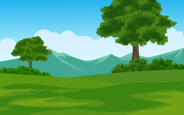 Paesaggio montano estivo